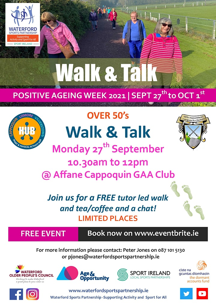 Positive Ageing Week - Walk & Talk Cappoquin image