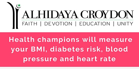 Free Health Checks for Women at the Alhidaya Mosque, Croydon tickets