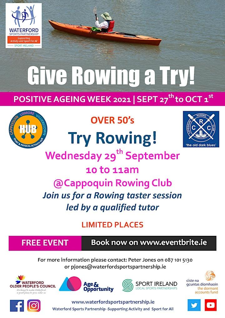 Positive Aging Week -  Try Rowing image