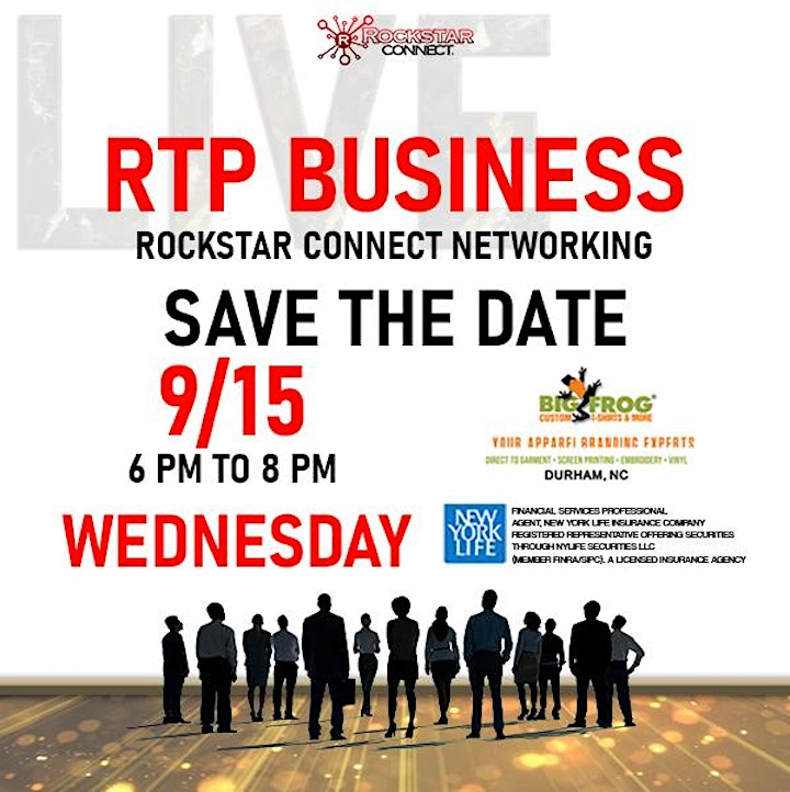 Free RTP Business Rockstar Connect Networking Event (September, RTP) image