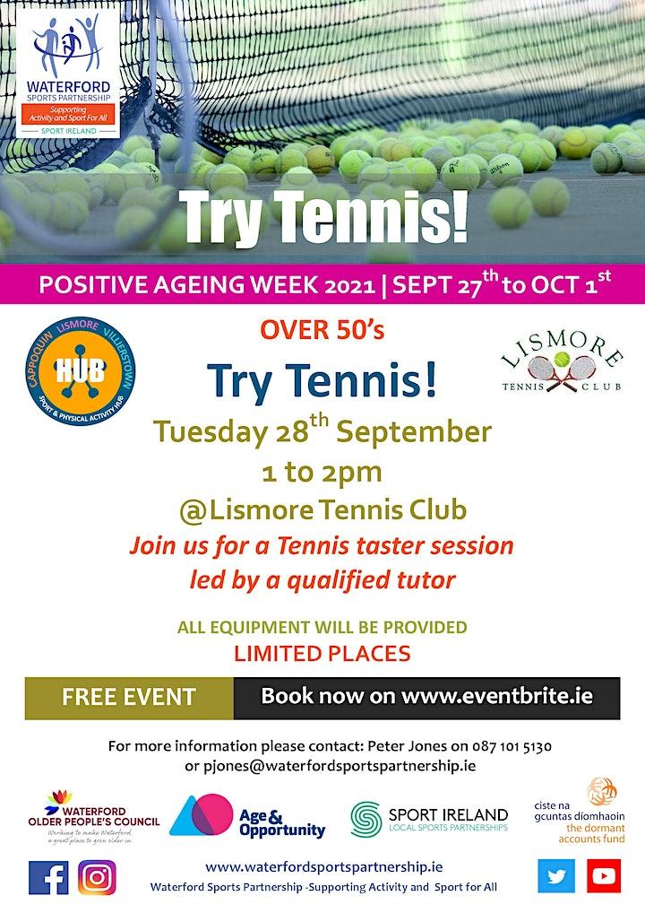Positive Ageing Week -  Try Tennis image