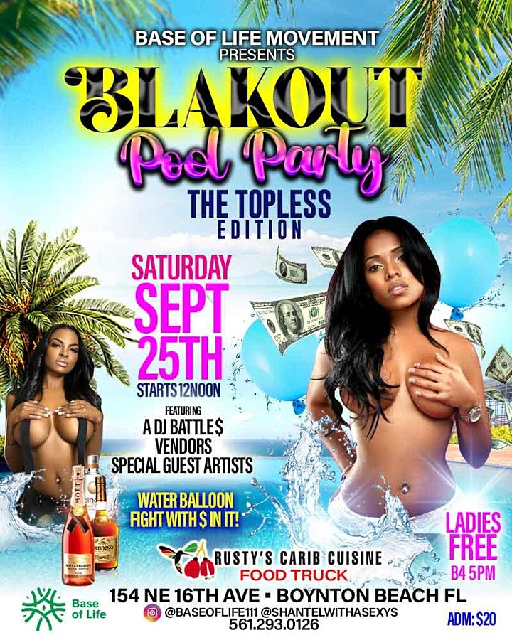 BLAKOUT POOL PARTY TOPLESS edition image