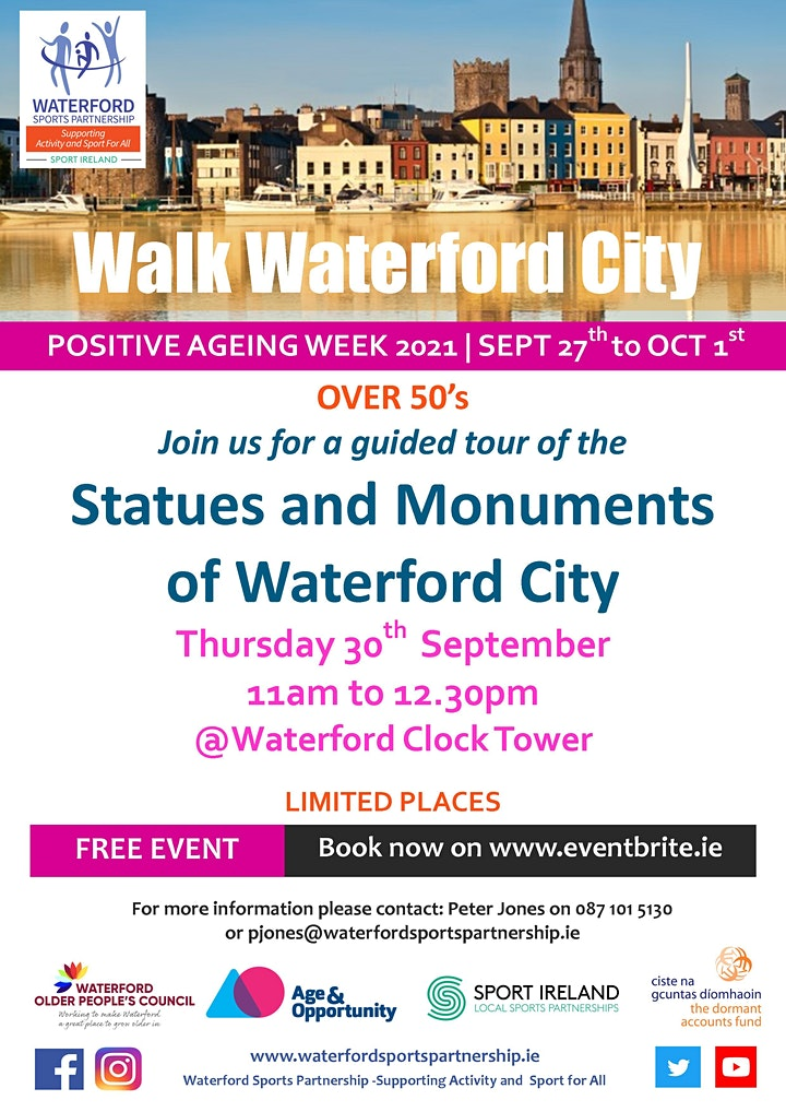 Positive Aging Week -  Statues and Monuments of Waterford City image