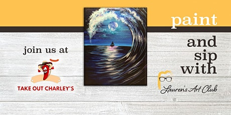 DIY Paint & Sip - Moon & Wave Painting Takeout Charleys tickets