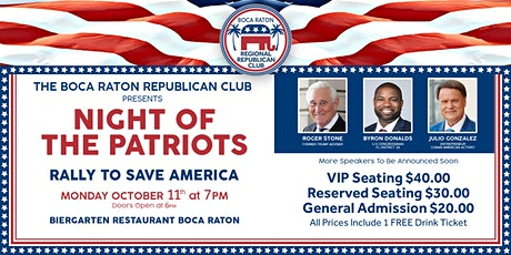 Night of the Patriots - Rally To Save America tickets
