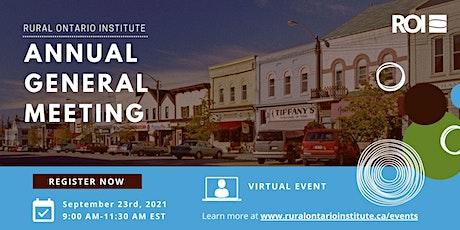 Rural Ontario Institute - Annual General Meeting - 2021 tickets