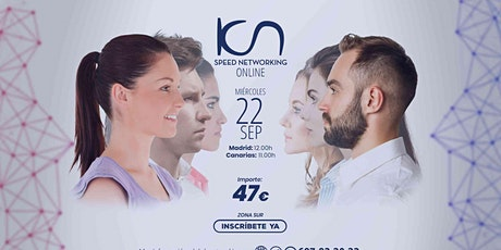 KCN Speed Networking Online Zona Sur 22 SEP entradas