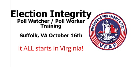 VFAF Poll Watcher/Worker Training tickets