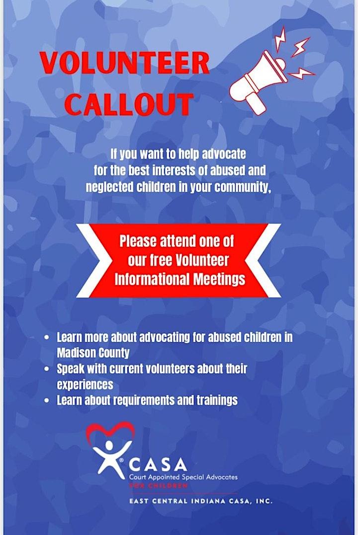 East Central Indiana CASA Volunteer Informational Meetings image