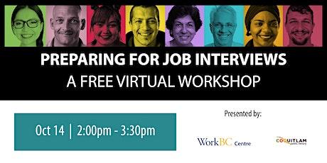Preparing for Job Interviews: A Free Virtual Workshop tickets