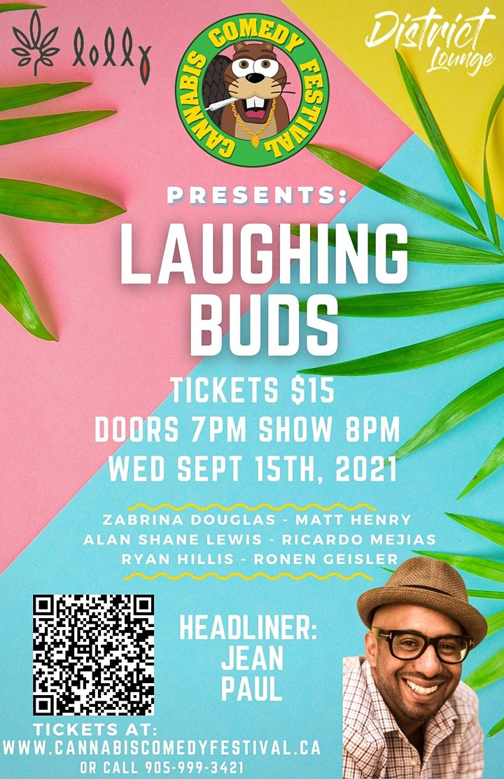 CANNABIS COMEDY FESTIVAL PRESENTS: LAUGHING BUDS  FEATURING JEAN PAUL image