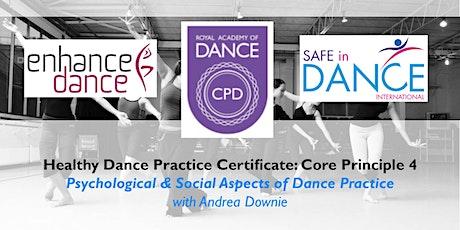 Psychological & Social Aspects of Dance Practice biglietti