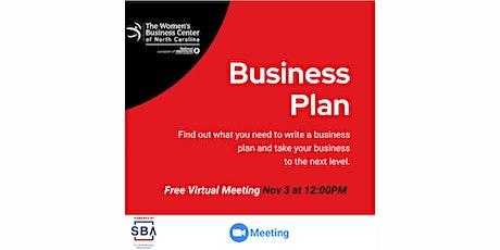 Business Plan tickets