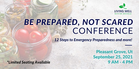 Be Prepared, Not Scared Conference tickets