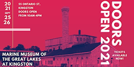 Doors Open Kingston 2021 - Marine Museum of the Great Lakes tickets