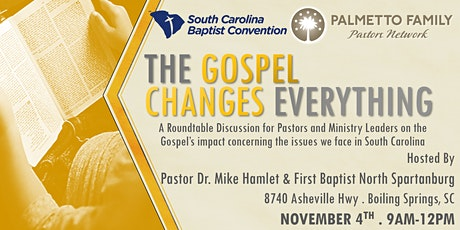 The Gospel Changes Everything Tour NORTH SPARTANBURG tickets