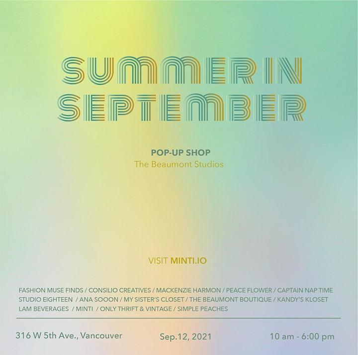 Summer in September, a pre-loved + artisan pop-up shop image