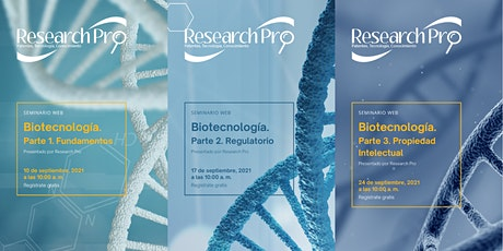 BIOTECNOLOGÍA. Fundamentos - Regulatorio - Propiedad Intelectual boletos