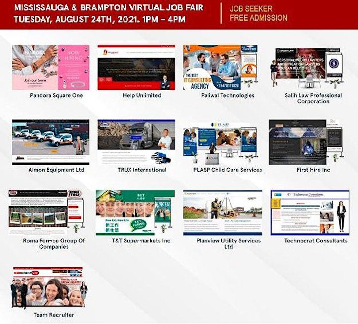 Mississauga Virtual Job Fair - August 24th, 2021 image