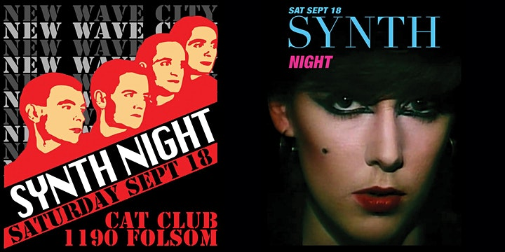 """2 for 1 admission to New Wave City """"Synth Night"""" Sep 18 image"""