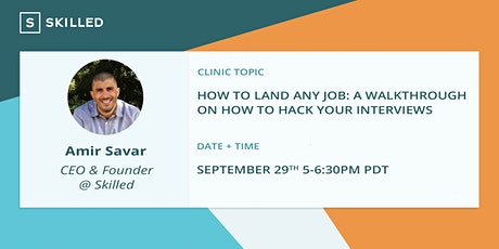 How to Land Any Job: A walkthrough on how to hack your interviews tickets