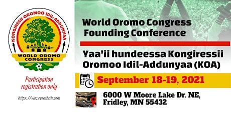 WORLD OROMO CONGRESS tickets