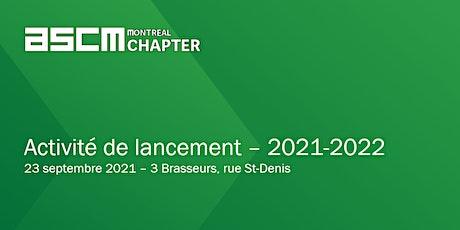 Activité de lancement ASCM 2021-2022 billets