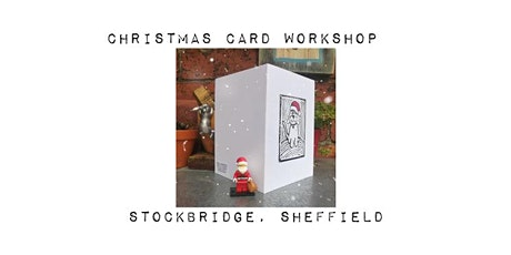 Christmas card workshop. Lino printing with Sombrero Printmaking tickets