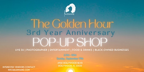 Lux Mane: The Golden Hour Pop-Up Shop tickets