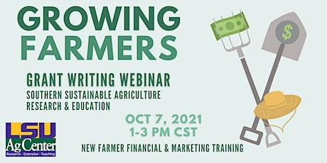Grant Writing Webinar - Growing Farmers tickets
