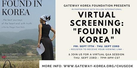 VIRTUAL SCREENING: FOUND IN KOREA tickets