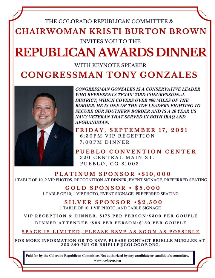 Colorado Republican Awards Dinner image