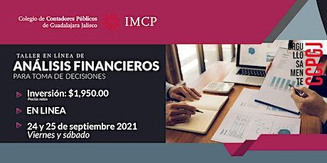 Taller de Análisis Financiero para Toma de Decisiones boletos