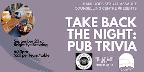 Take Back the Night: Pub Trivia tickets