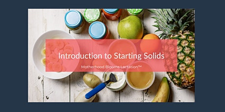 Introduction to Starting Solids tickets