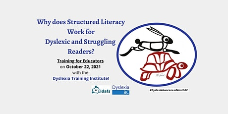 Structured Literacy is Important with the Dyslexia Training Institute! tickets