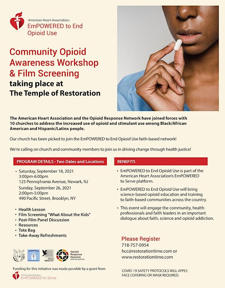 Community Opioid Awareness Workshop & Film Screening image