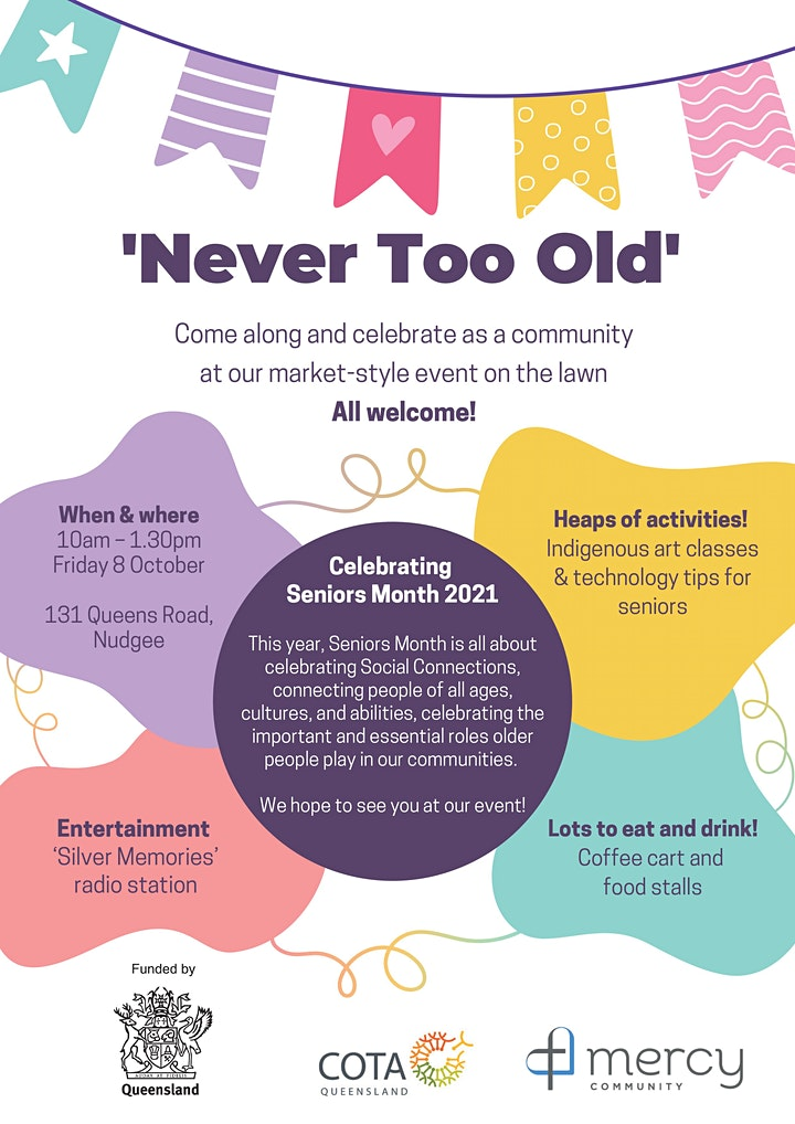 Never Too Old: We're Celebrating Seniors Month 2021 image