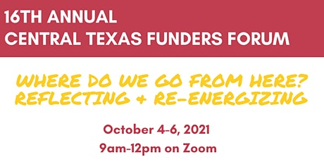 2021 Virtual Central Texas Funders Forum tickets