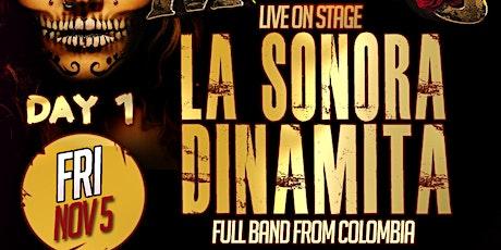 FRIDAY La Sonora Dinamita full band from Colombia. Dia de los Muertos Nov 5 tickets
