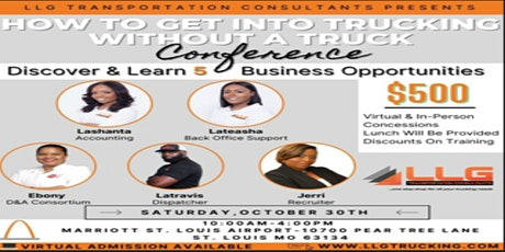 How To Get Into Trucking  Without  A Truck Conference tickets