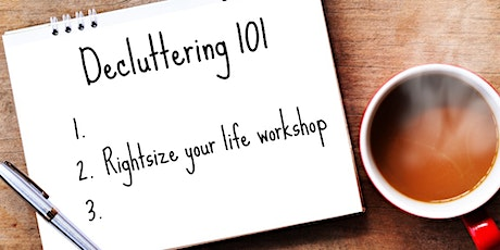 Rightsize Your  Life - declutter sustainably and responsibly - Hub Library tickets
