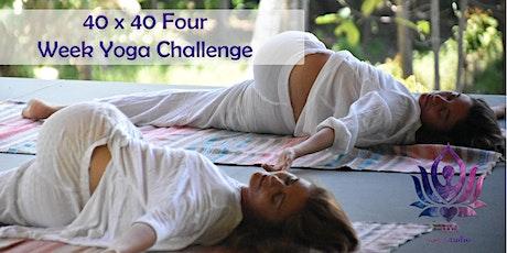 40 x 40 Four Week Online Yoga Practice tickets