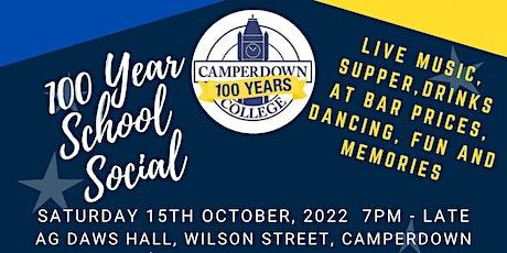 Camperdown College '100 Year School Social' tickets