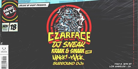 PANIC IN L.A. ft. Czarface, DJ Sneak, Kraak & Smaak [Live], Harry Mack tickets