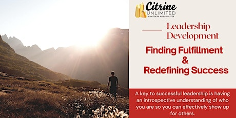 Redefining Success and Finding Fulfillment tickets