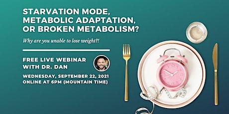 Starvation Mode, Metabolic Adaptation, or a Broken Metabolism? tickets