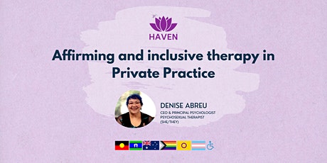 Affirming & inclusive therapy in Private Practice tickets