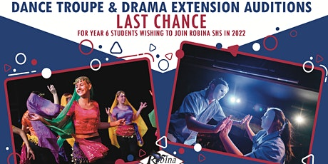 RSHS Dance Troupe & Drama Extension Auditions 2 tickets