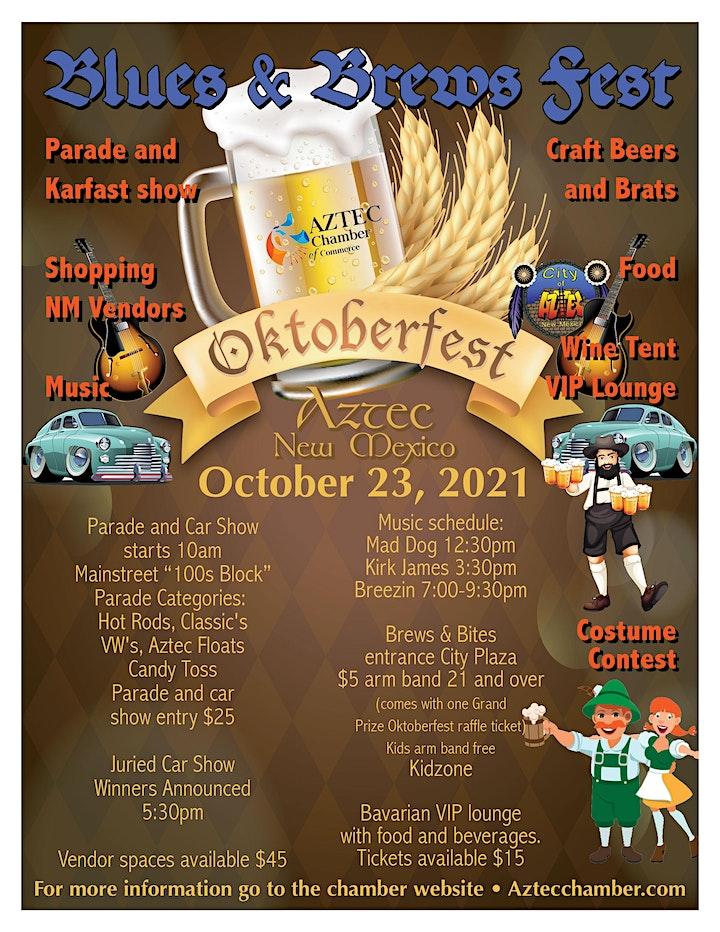 Aztec's Oktoberfest Car Show, Parade Registration & VIP tickets 10/23/2021 image
